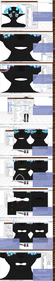 MMD|Tutorial| How to make extra mouth morphs!