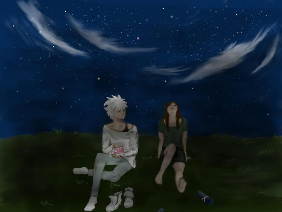 Under the night sky by Ingwa