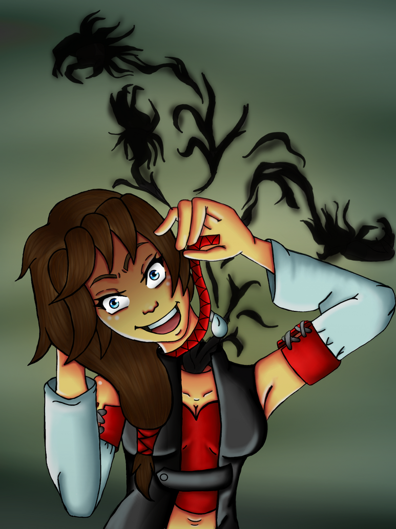 Enya Red Ribbon by Loralata