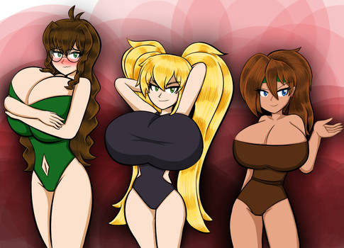 Swimsuit Event (36-38) - Maxine, Nancy and Becky