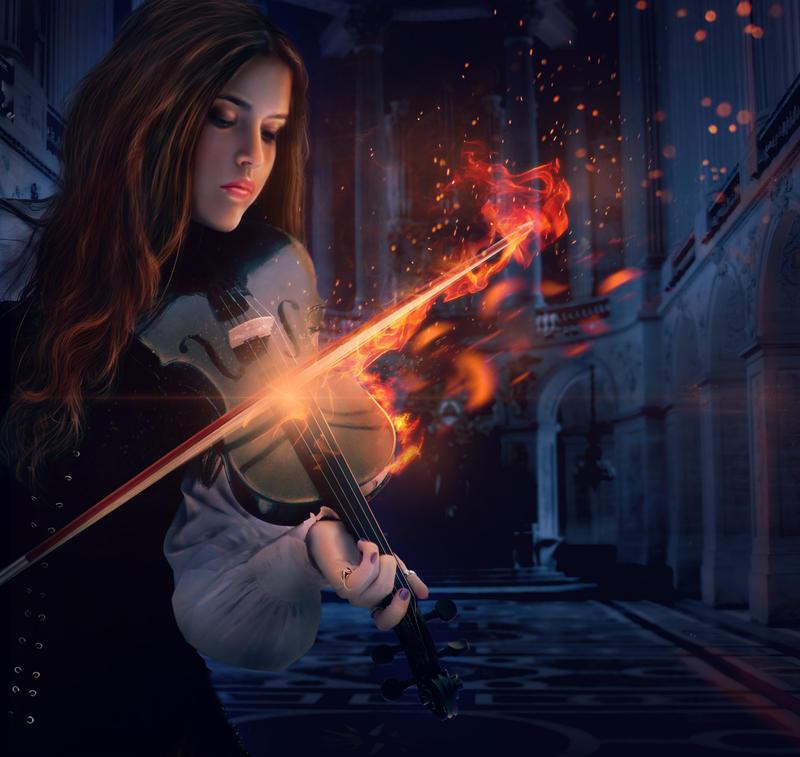 Violin Wallpaper: Fire Within Violin By Jr0520 On DeviantArt