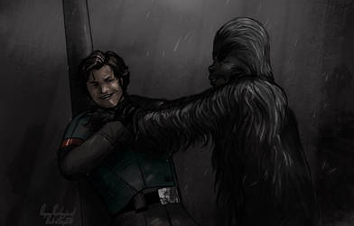 Han Solo meets Chewie by RabidDog008