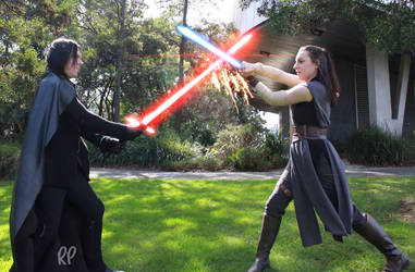 Kylo and Rey Cosplay by RabidDog008