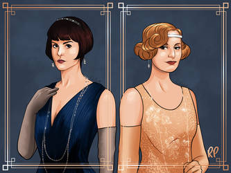 Lady Mary and Lady Edith