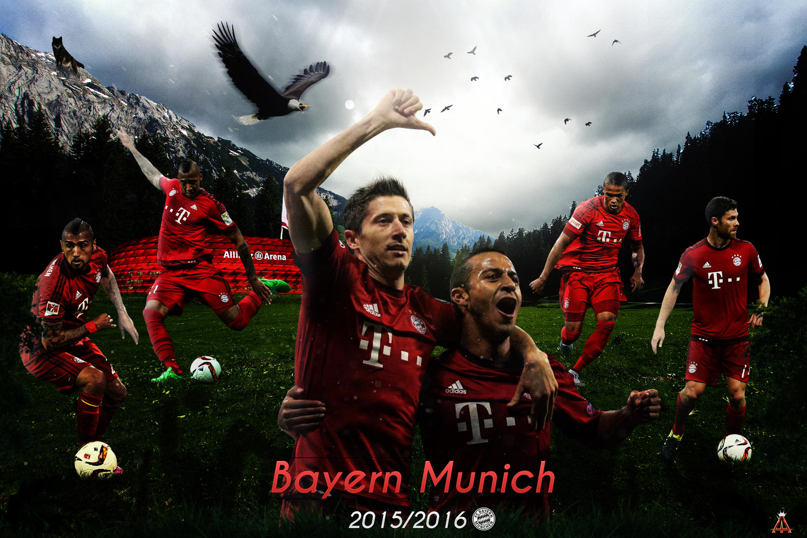 bayern munich 2015 2016 by abbes17 on deviantart. Black Bedroom Furniture Sets. Home Design Ideas