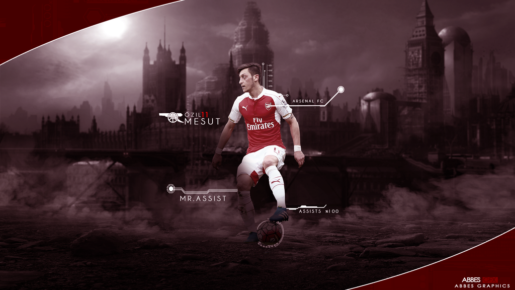 Wallpaper Mesut Ozil 2015 By Designer Abdalrahman On: Mesut Ozil Wallpaper 2015/16 By Abbes17 On DeviantArt