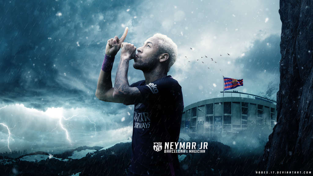 Neymar Jr Wallpaper 2016/17 by Abbes17