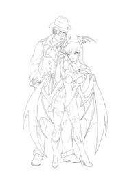 Pax and Morrigan by TessandraFae