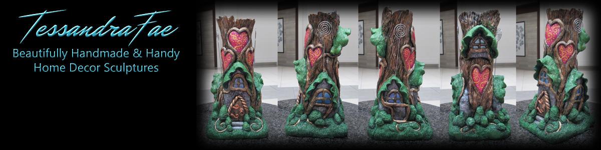 Handmade Fairy House Vase and Card Holder