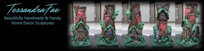 Handmade Fairy House Vase and Card Holder by TessandraFae