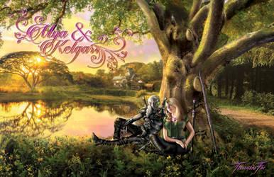 Kelgar and Mya - Large Poster by TessandraFae