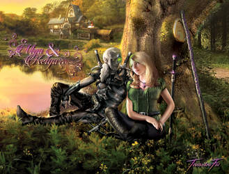 Kelgar and Mya - Cropped Poster by TessandraFae