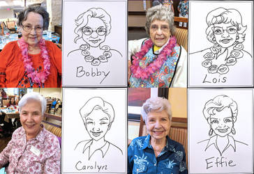 Caricatures at Wyoming Springs by TessandraFae