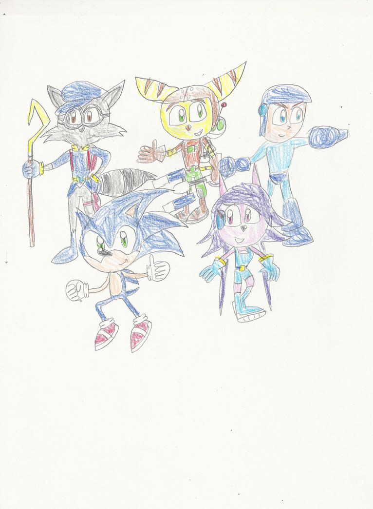 The six Dimension Heroes by mastergamer20