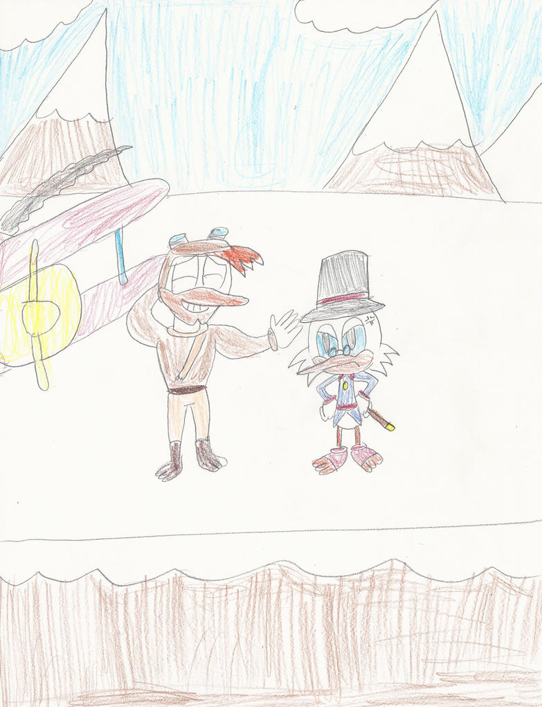 Scrooge and Launchpad at the Himalayas by mastergamer20