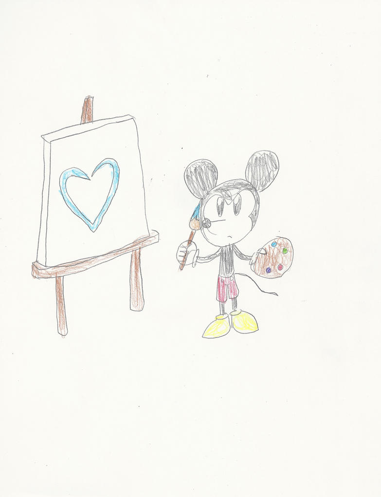Mickey Painting by mastergamer20