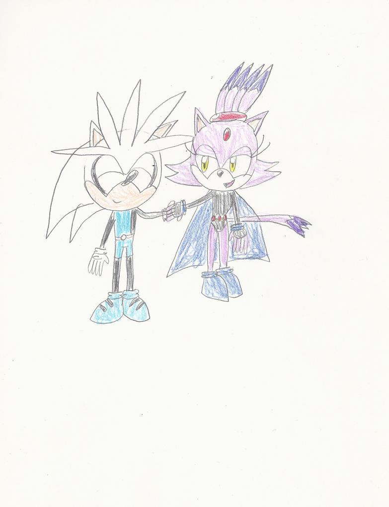 AT: Silver x Blaze as Raven x Beast Boy by mastergamer20