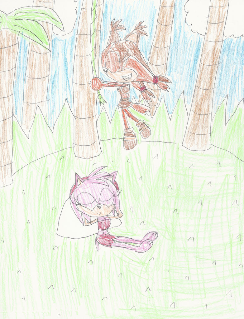 CE: Amy and Sticks the jungle girls by mastergamer20