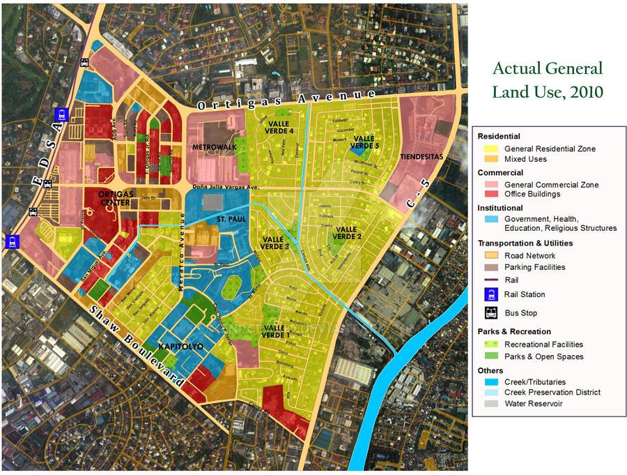 Pasig City Actual Land Use by enpclavio on DeviantArt