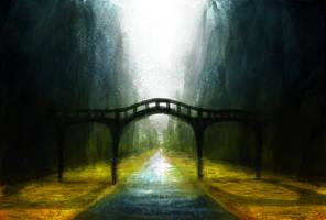 Bridge and nature and water