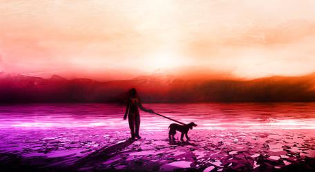 Colourfull Beach Sunrise