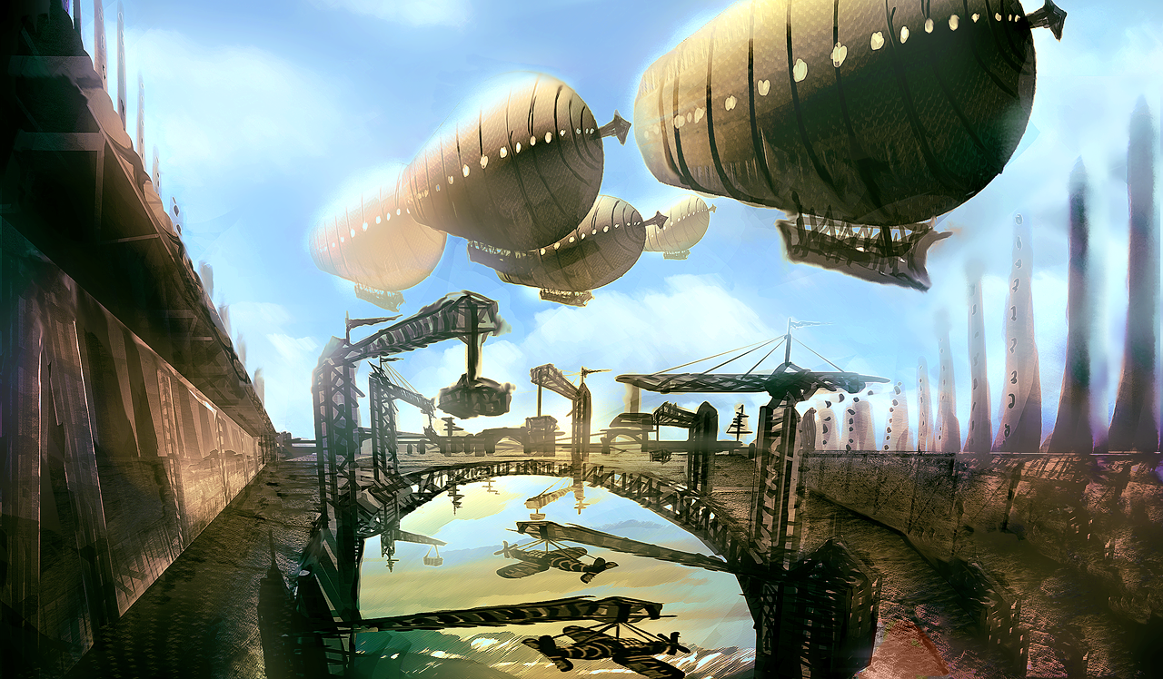 Victorian floating city by aperson4321 on DeviantArt Floating City Steampunk