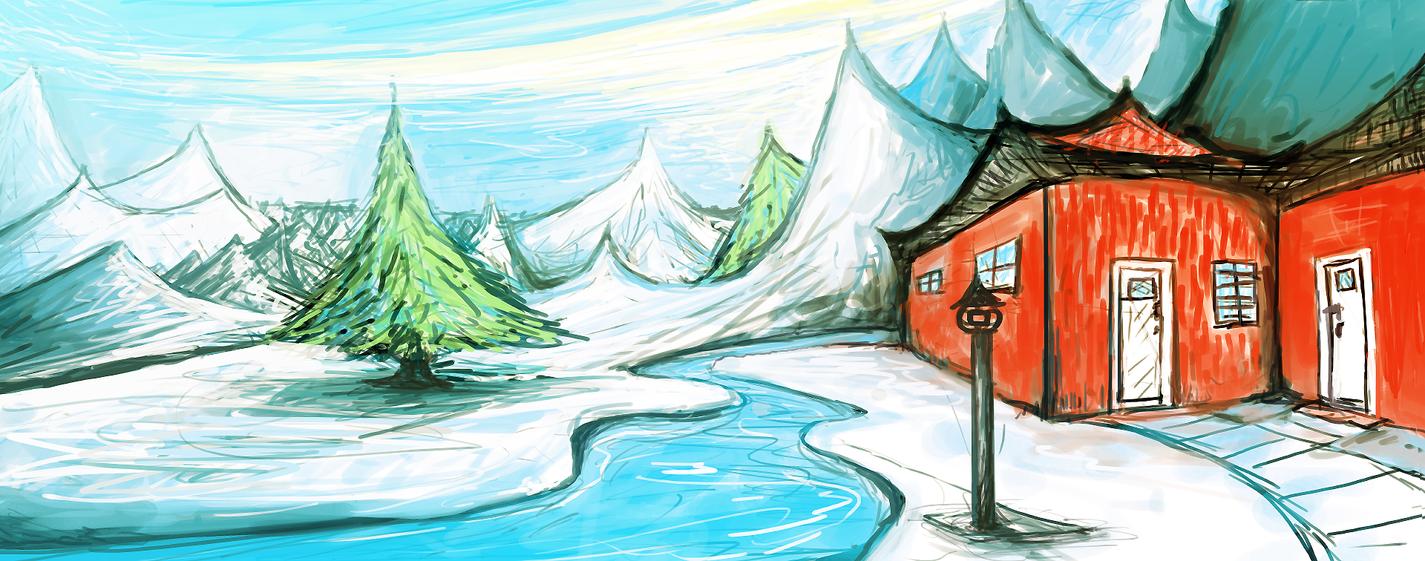 Hus i skog by aperson4321