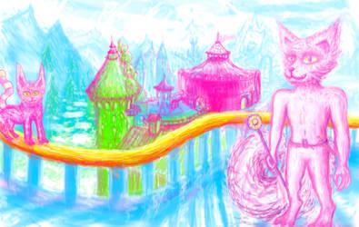 fantasy landscape cityscape