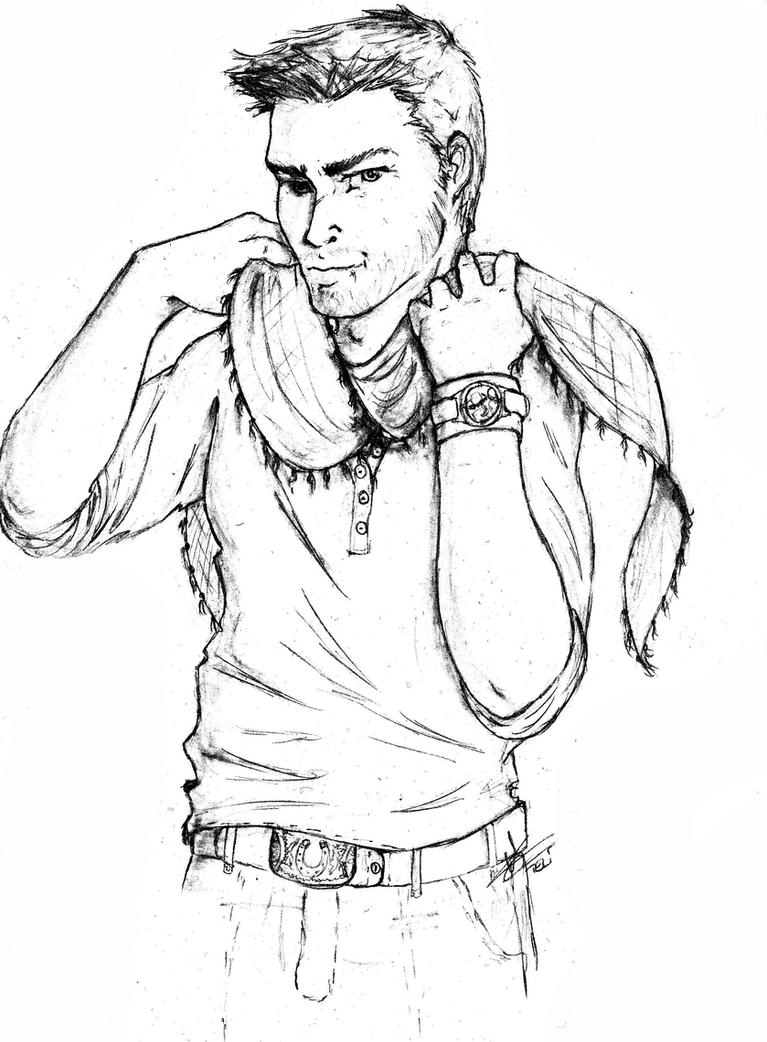 Nathan drake free coloring pages for Drake coloring pages