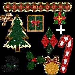 Christmas  sticker sparkle