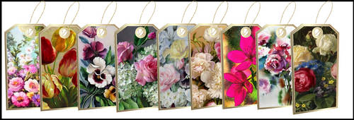 Floral Tag With meshes For IMVU