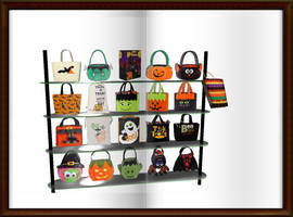 halloween bag  shelves