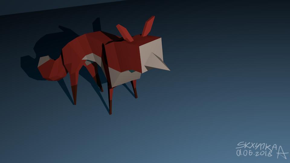 fox in 3D by SkrzynkaPandory
