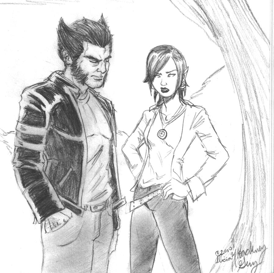 Wolverine and Jubilee 1 by kadenfukuyama