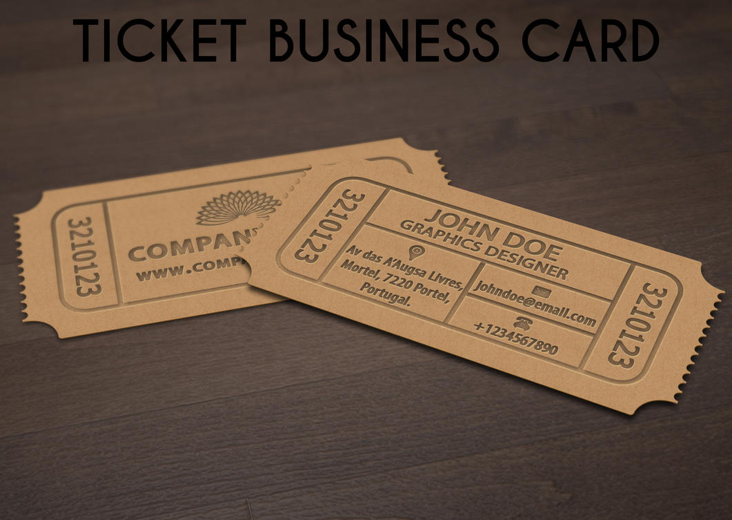 ticket business card by