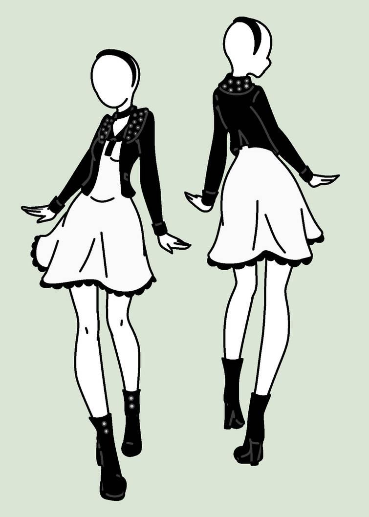 Fashion Design: Preppy Punk by MaliceInTheAbyss