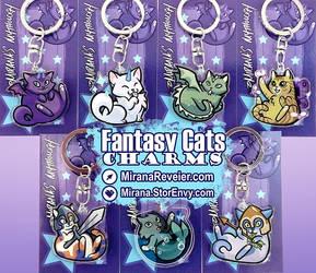 Fantasy Cats Charms by mirana
