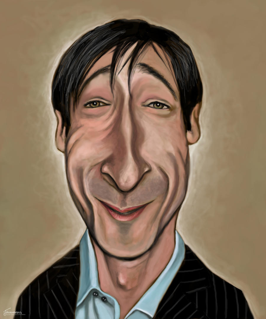 Caricaturas de famosos Adrian_Brody_caricature_by_fillengroovy