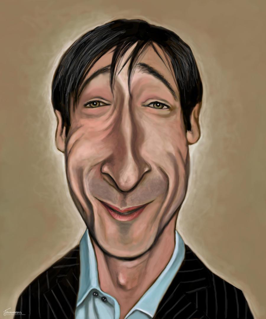 Adrian Brody caricature