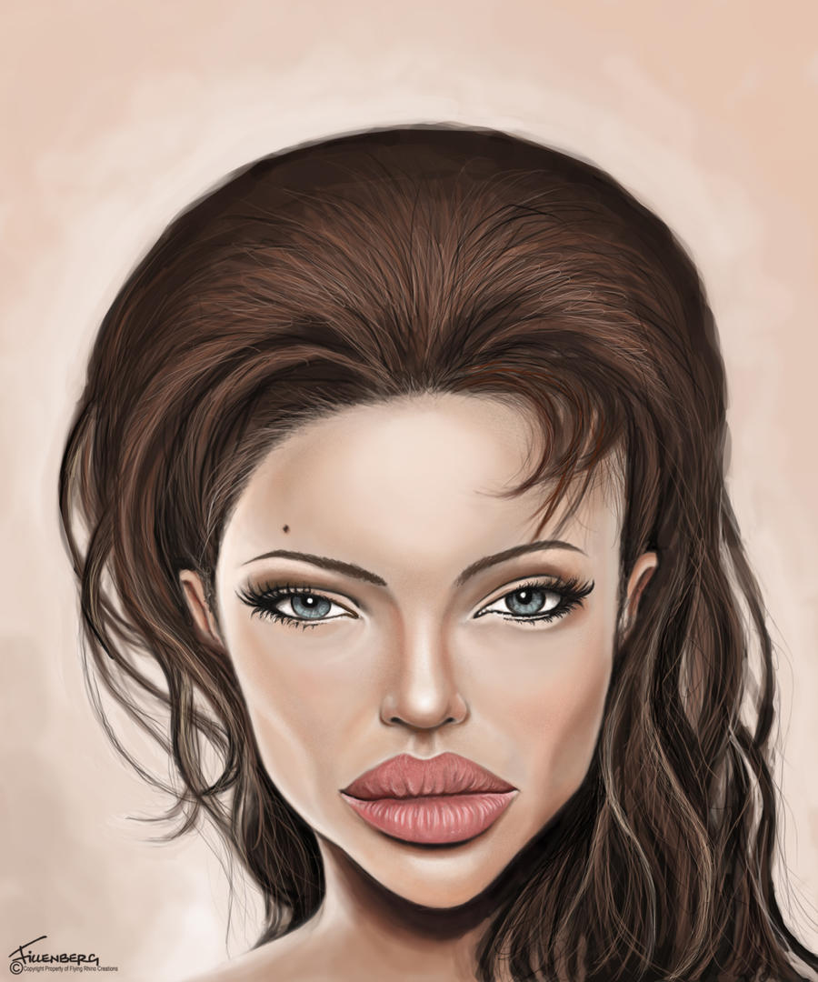 Angelina jolie caricature by fillengroovy