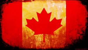 Canada flag grunge wallpaper