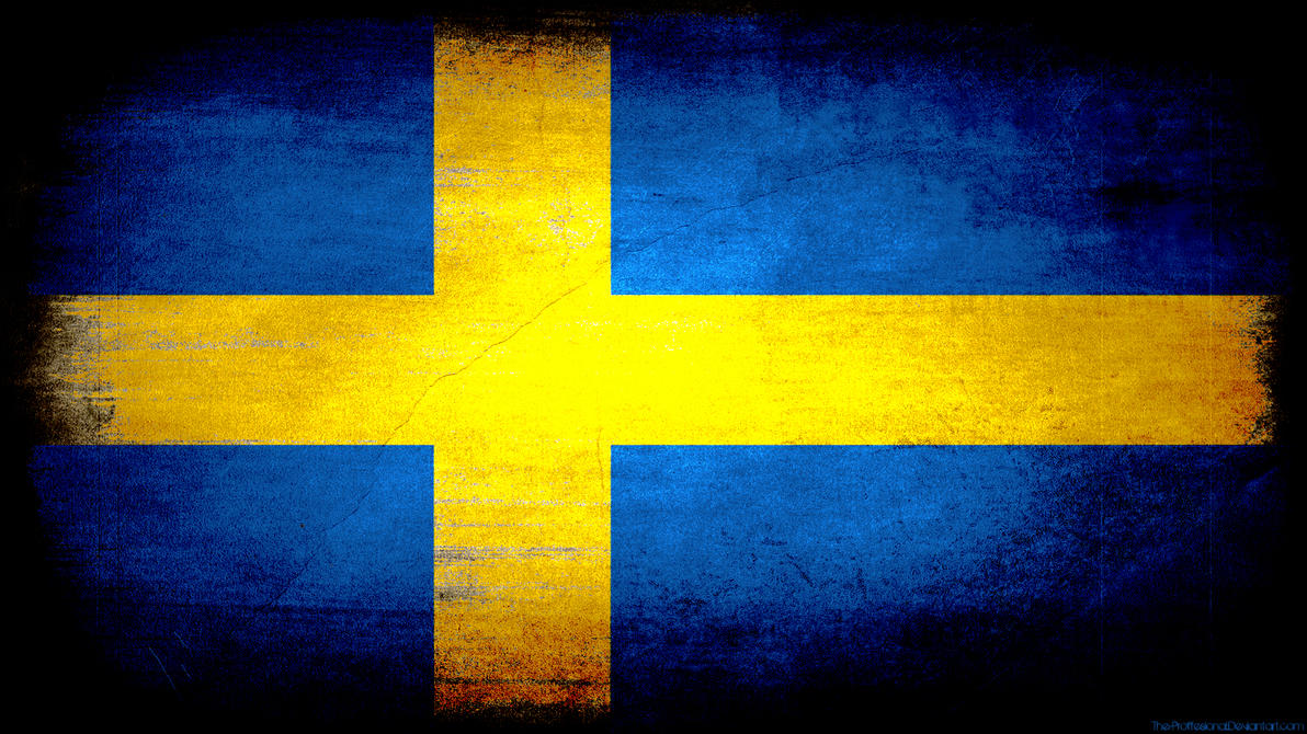 Sweden flag grunge wallpaper by The-proffesional
