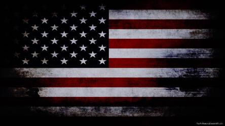 USA flag grunge wallpaper