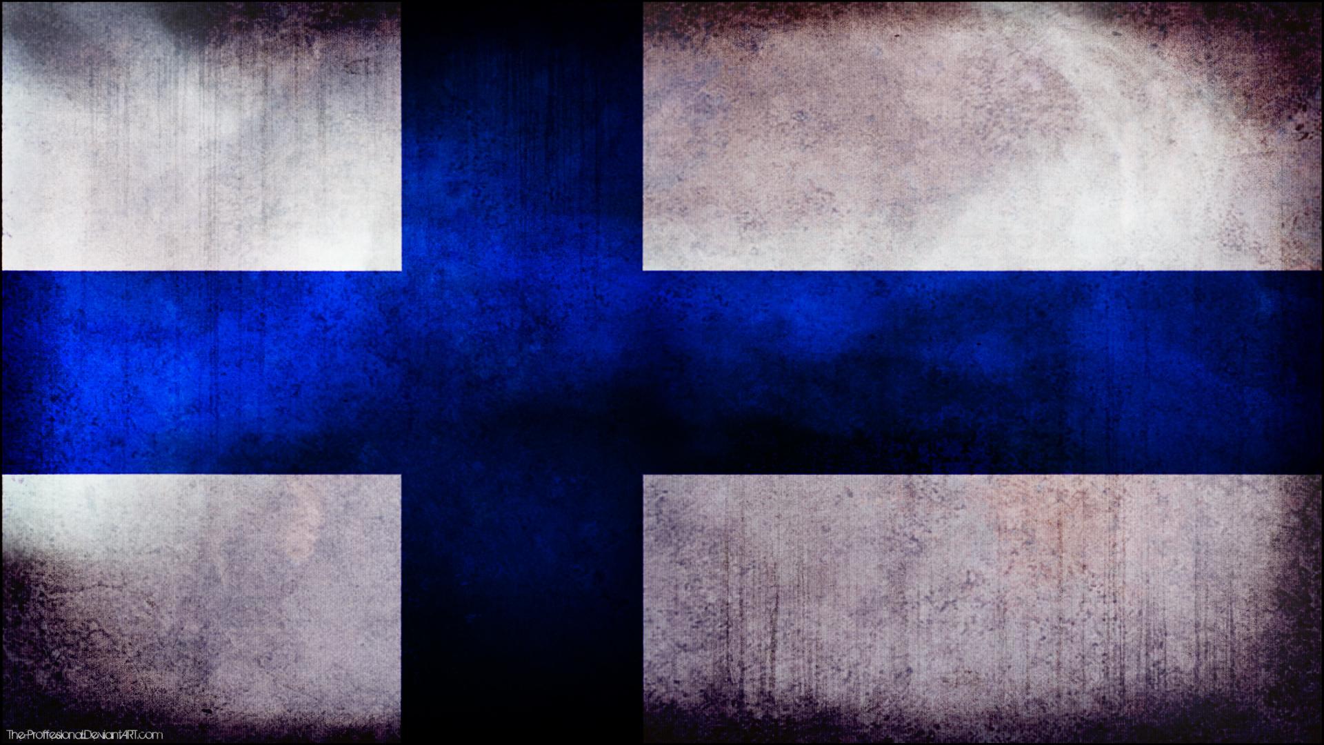 Finland grunge flag wallpaper