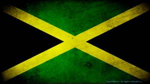 Jamaica flag grunge wallpaper