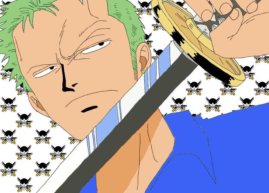 One Piece Sketch - Zoro by LNearMelloMatt