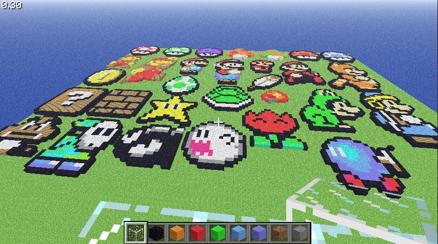 Minecraft Mario Sprites by LNearMelloMatt