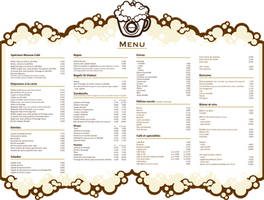 Mousse Cafe window menu