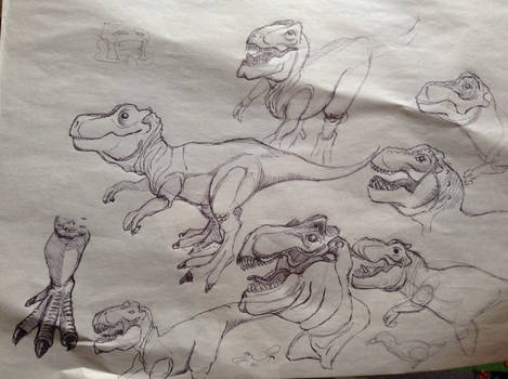 Draw Dinovember sketches