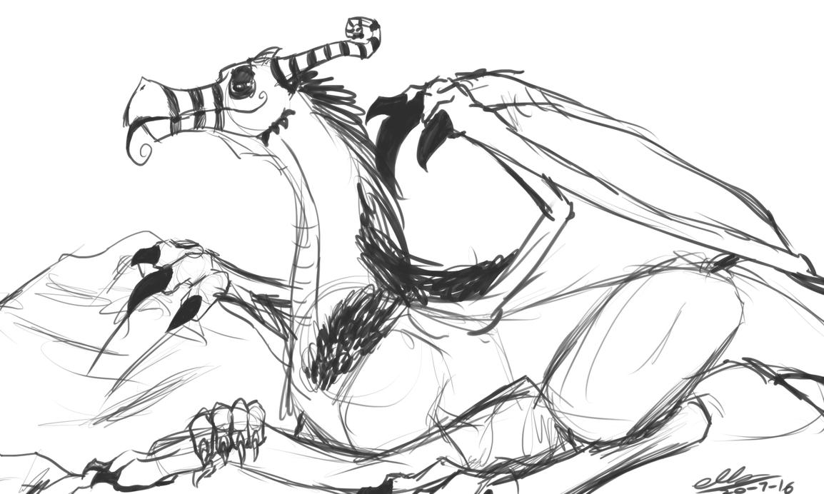 LJ drago -sketch- by Ellzilla